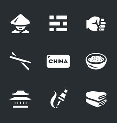 Set of china icons vector