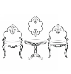 Set of classic imperial furniture vector