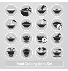 set of cooking icons for instructions vector image