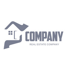 set of real estate company logo templates for vector image