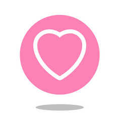 simple love button social media like design vector image