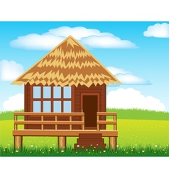Small lodge on nature vector