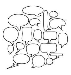 Speech bubbles messages icons square frame and vector