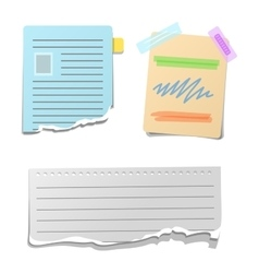 Sticker note paper vector image