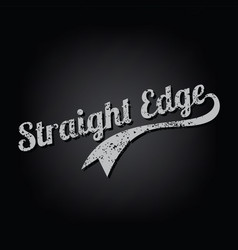 straight edge vector image