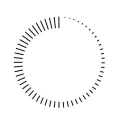 stripes around circle logo countdown vector image