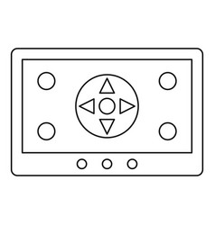 Tablet drone control icon outline style vector
