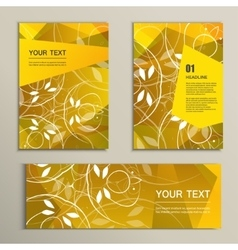 template brochure and banner with abstract vector image