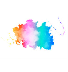 Vibrant colors watercolor stain texture vector