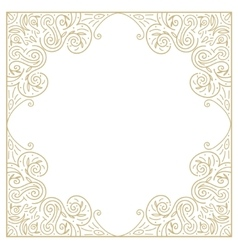 Vintage gold background ornamental hand draw vector