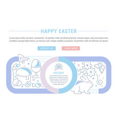 website banner and landing page happy easter vector image