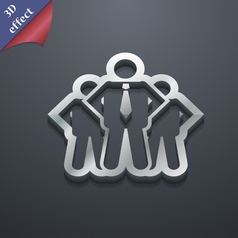 business team icon symbol 3D style Trendy modern vector image