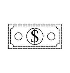 dollar banknote money cash economy financial vector image