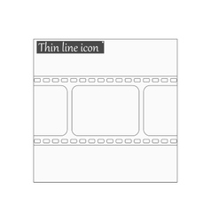 film strip with space Style thin line vector image