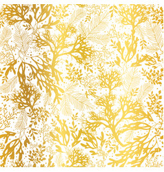 gold and white seaweed texture seamless vector image