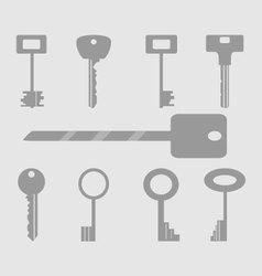Keys icons set vector image vector image
