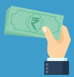 ndian rupee banknote vector image