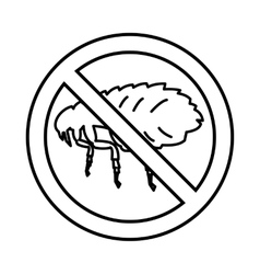 No flea sign icon outline style vector image vector image