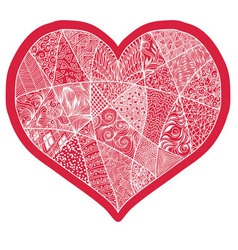 Heart design element background for cute cards on vector image