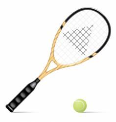 Racket and a tennis ball vector
