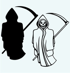 Terrible death with a scythe vector image vector image