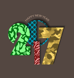 Textured urban new year 2017 concept on brown vector