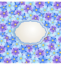 background with blue and violet flowers vector image vector image