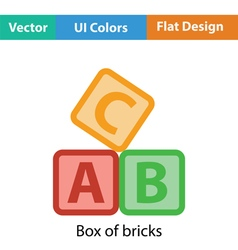 Box of bricks icon vector image