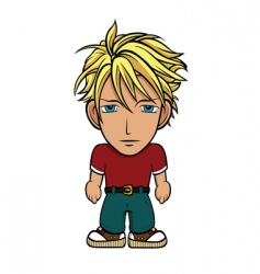 chibi guy blond vector image vector image
