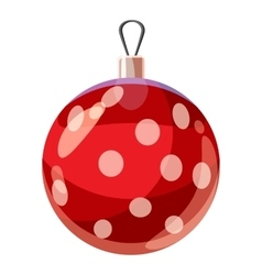Christmas red ball icon cartoon style vector image vector image