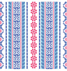 embroidered pattern vector image vector image