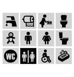 man woman restroom vector image vector image