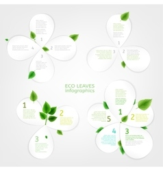 Paper Leaves infographic 01 A vector image