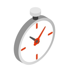 Pocket watch icon isometric 3d style vector image vector image