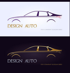 set of modern premium car silhouettes isolated vector image vector image