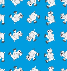 Sheep white on blue vector
