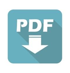 Square PDF download icon vector image