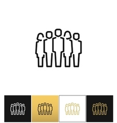 Staff group icon vector image