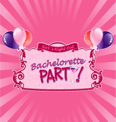 sticker for bachelorette party vector image