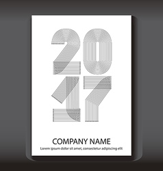 Cover annual report numbers 2017 modern design vector