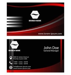 Creative business cards design vector image vector image