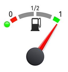 fuel gauge indication full tank vector image vector image