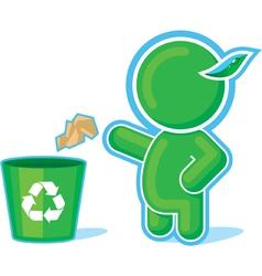green hero recycle container vector image vector image