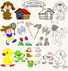 0815 12 coloring book v vector image