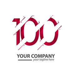 100 year anniversary your company template design vector