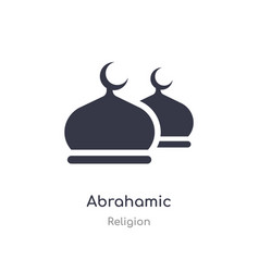 Abrahamic icon isolated icon from vector
