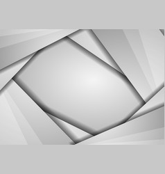 abstract geometric white and gray color vector image