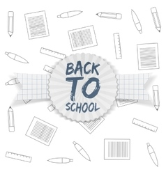 Back to School Tag on greeting Ribbon vector