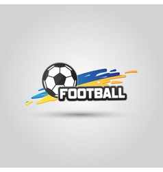 Ball symbol Ukraine Football Logo Badge Sport vector image