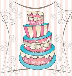 big cake vector image